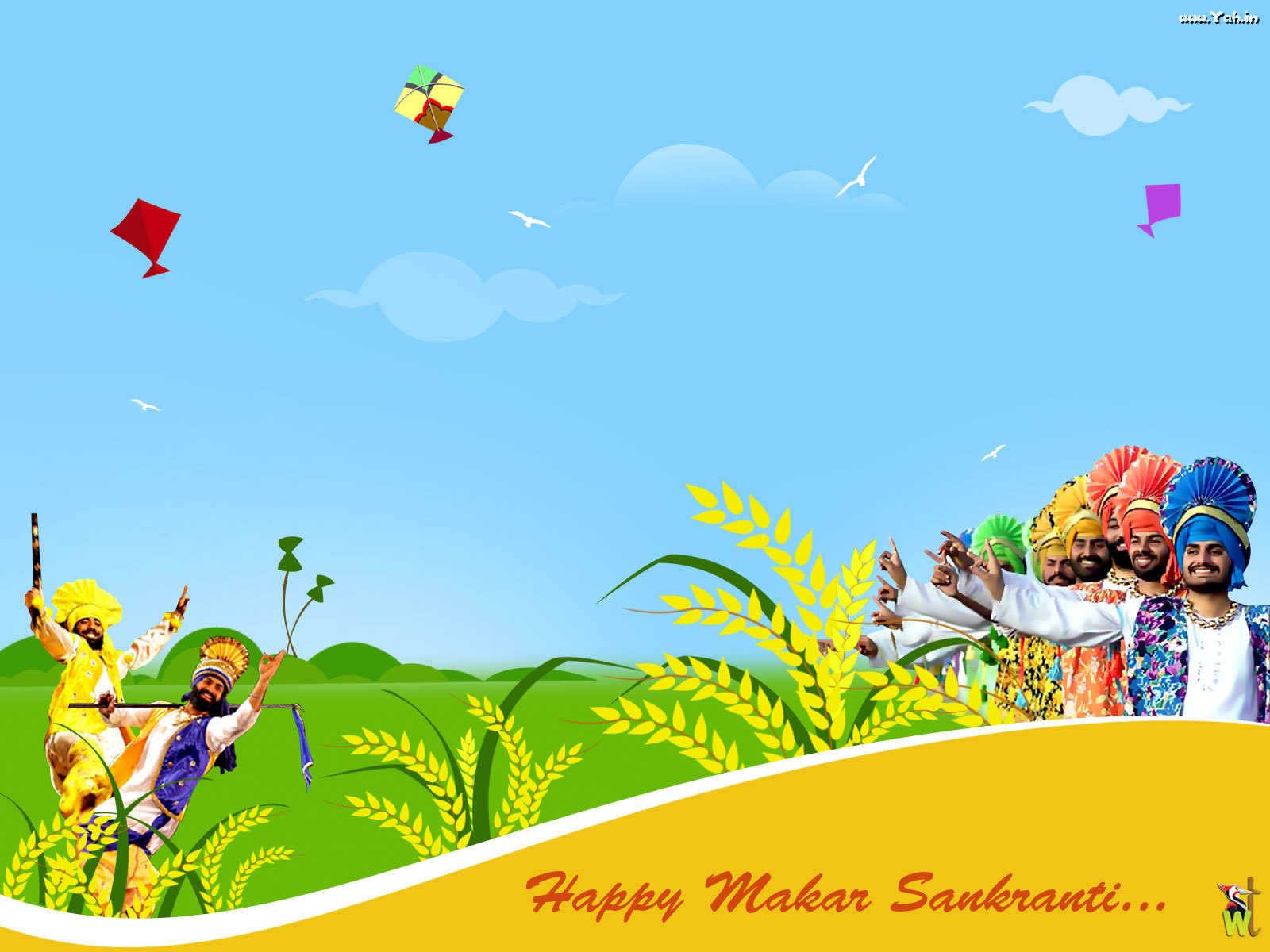 Happy makar sankranti wallpaper | Urban Art Wallpaper