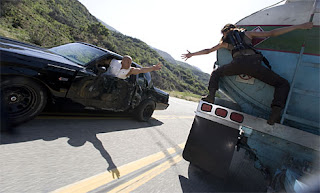 Vin Diesel performing a stunt for FF4