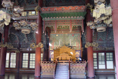 Throne room of Injeongjeon Hall