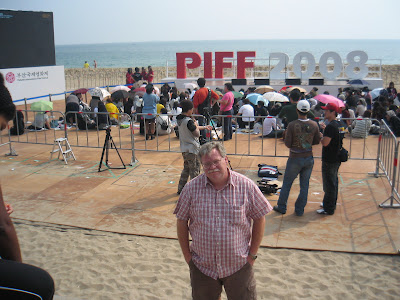 Me in front of stage at Film Festival
