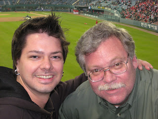 Andy and me before the game