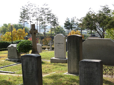 Nice view of Yanghwajin Foreing Missionary Cemetary