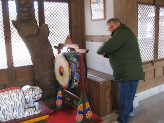 Me, banging drum in Hanok Village