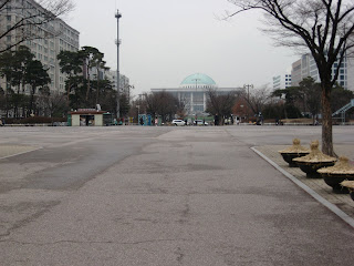 Natioal Assembly building, seen from Yeouido Park