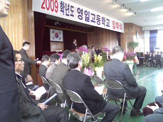 Principal Jun at opening ceremony