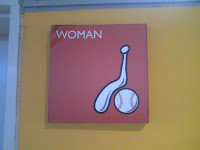 Women's room sign at Munhak Stadium