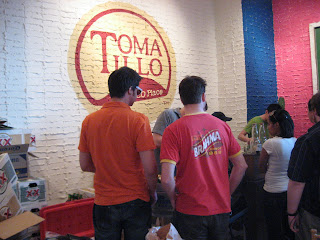 Beer line at Tomatillo's