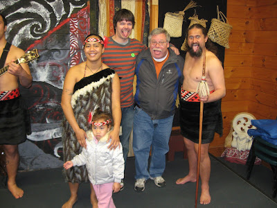Maori tribal erformance photo op in Whaka