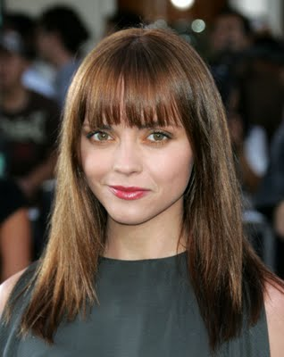 black hairstyles for 2010, along with straight across bangs.