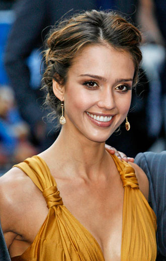 Here some pictures of Jessica Alba Sassy Updo Short Hairstyles for 2010: