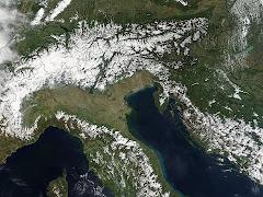 Mappe satellitari Nord Italia