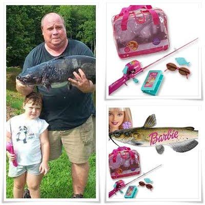 Keli oh keli amazing barbie fishing rod catch catfish for Barbie fishing pole