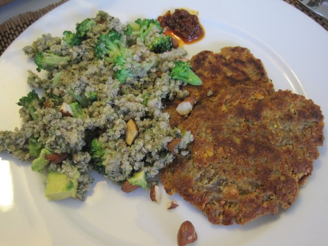 Courtney's Vegan Journal: Double Broccoli Quinoa and Chickpea Cutlets