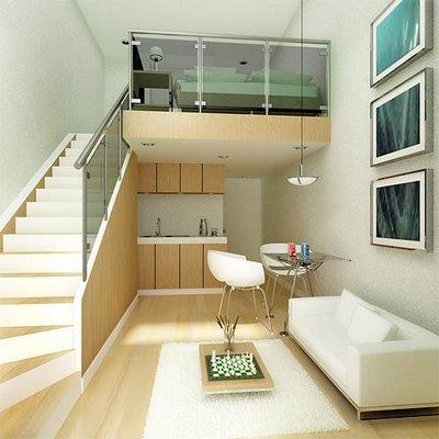 5 dicas para decorar um pequeno apartamento estilo loft - Loft pequeno ...