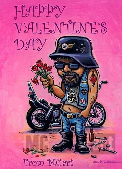 Valentine S Day Card And Harley Davidson