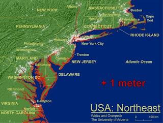 Global Warming Sea Level Rise - Us sea level rise map