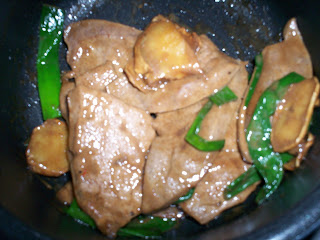 pig livers in ginger and onion sauce