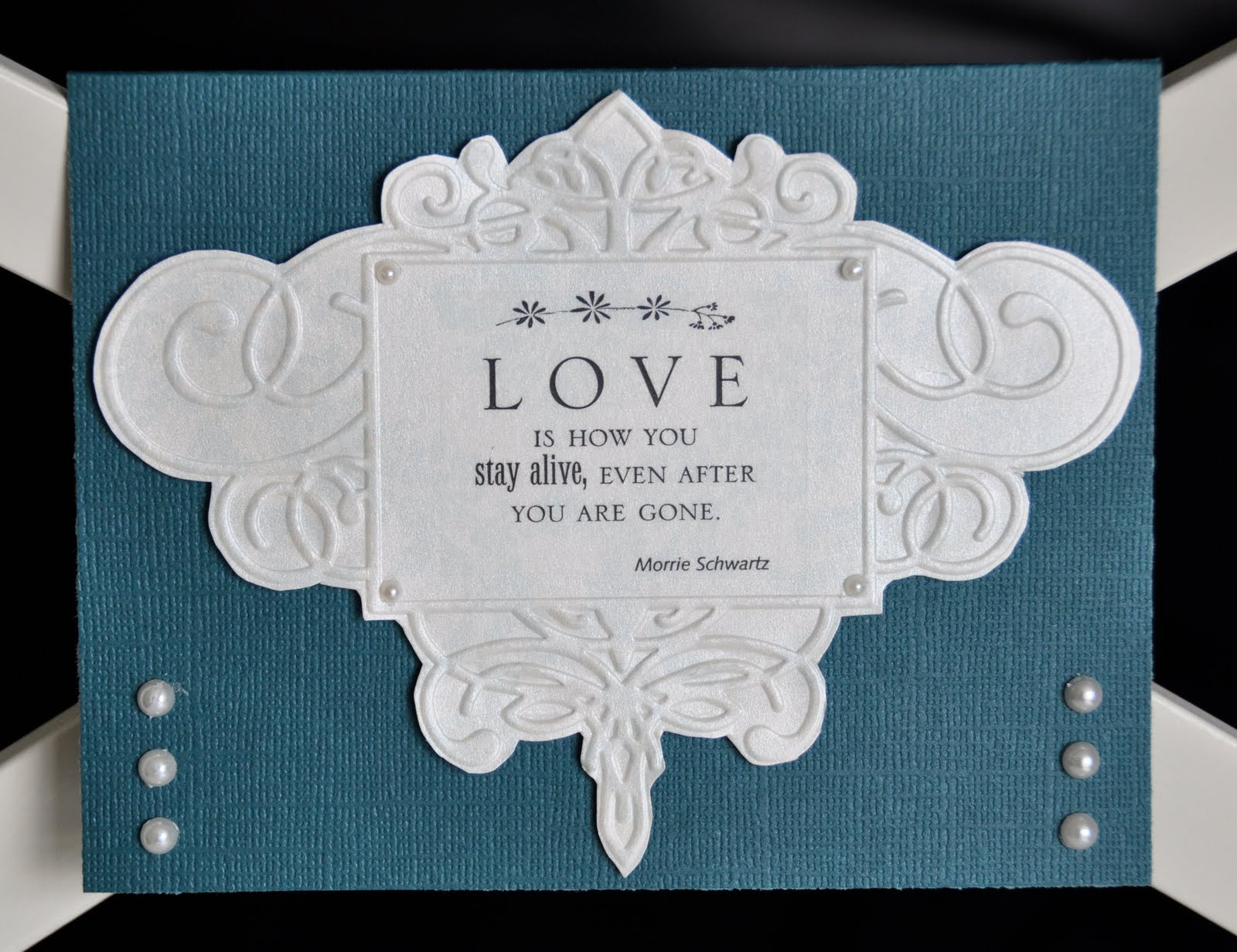 Courts Crafts Cuttlebug Challenges Sympathy Card – Funeral Words for Cards