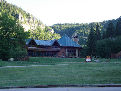 We stayed at the Spearfish Canyon Lodge.