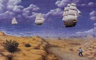 Boats in the sky illusion - Flying Boat Illusion