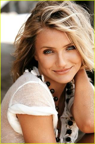 Hollywood Actress Cameron Diaz with slimming hairstyle
