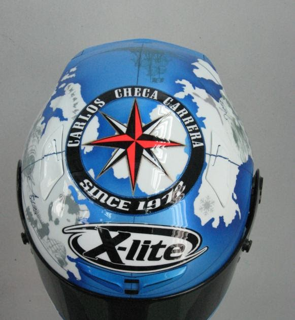 Racing helmets garage x lite x 802 carlos checa 2010 by for Garage significato