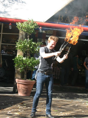 crazy flame thrower guy