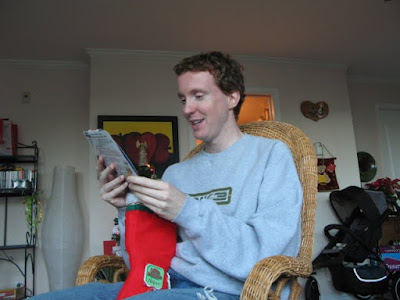 alex opening his stocking