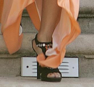 Vanessa Hudgens - Black Platform Heels