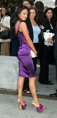 Megan Fox - Purple Platform Heels