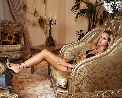 Lady Victoria Hervey Pink Toes and Ankle Wrap Heels
