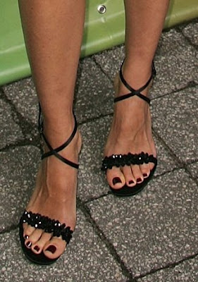 Kim Raver Black Toes and Black Sandals