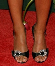 Jessica Alba Stylish Black Dress Heels