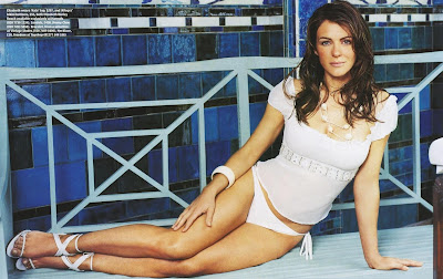 Elizabeth Hurley White Sandals