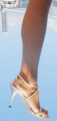 Pamela Anderson Heels on a Boat