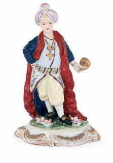 porcelain figure of ottoman youth made in dresden germany
