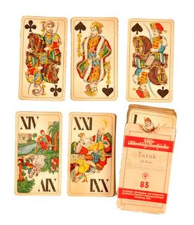 tarot cards with ottoman figures