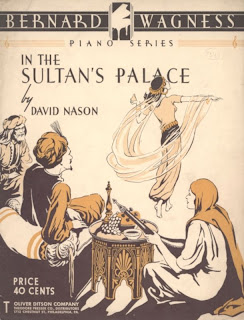 score sheet cover of in the sultans palace by David Nason