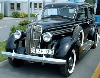 1936 model black Dodge