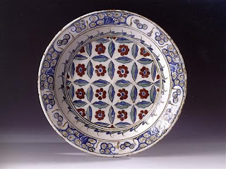 sixteenth century iznik nicea ceramic plate
