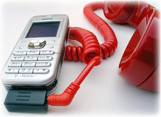 pokia retro cell phone handset