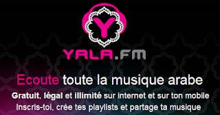 Yala.fm streaming musique arabe gratuit