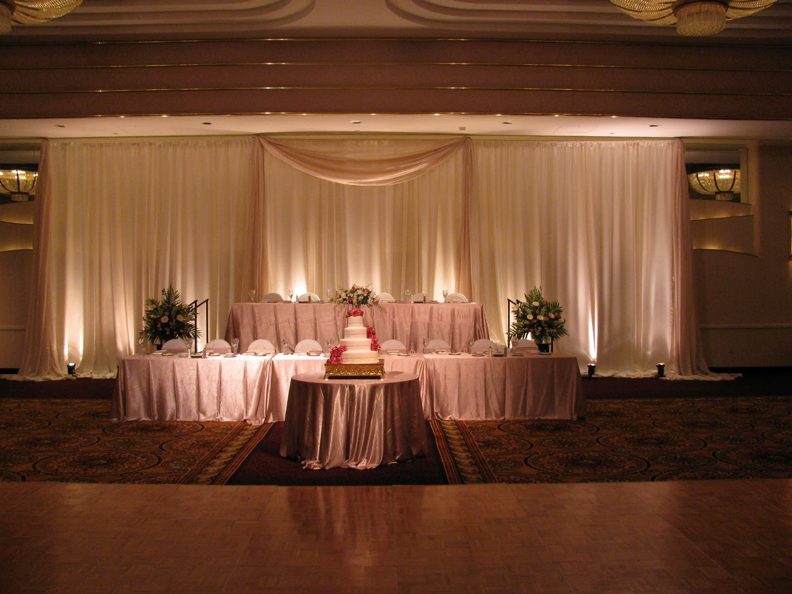 Fabric Draping – Fabric can create a focal point, intimate spaces title=