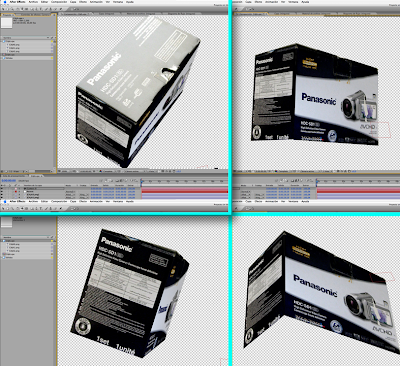Tutorial: Crear una caja 3D en After Effect CS3 con Photoshop Vanishing point