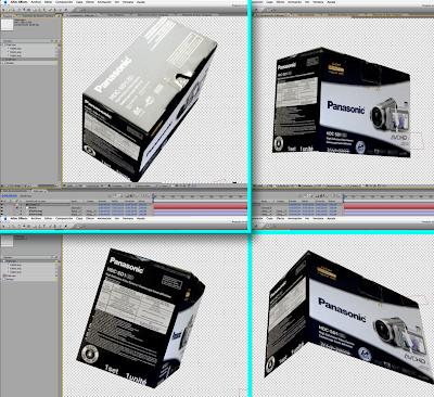Tutorial: Crear una caja 3D en After Effect CS3 con Photoshop Vanishing point
