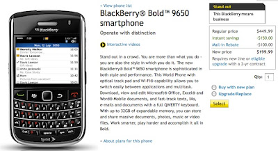BlackBerry Bold 9650 Available from Sprint