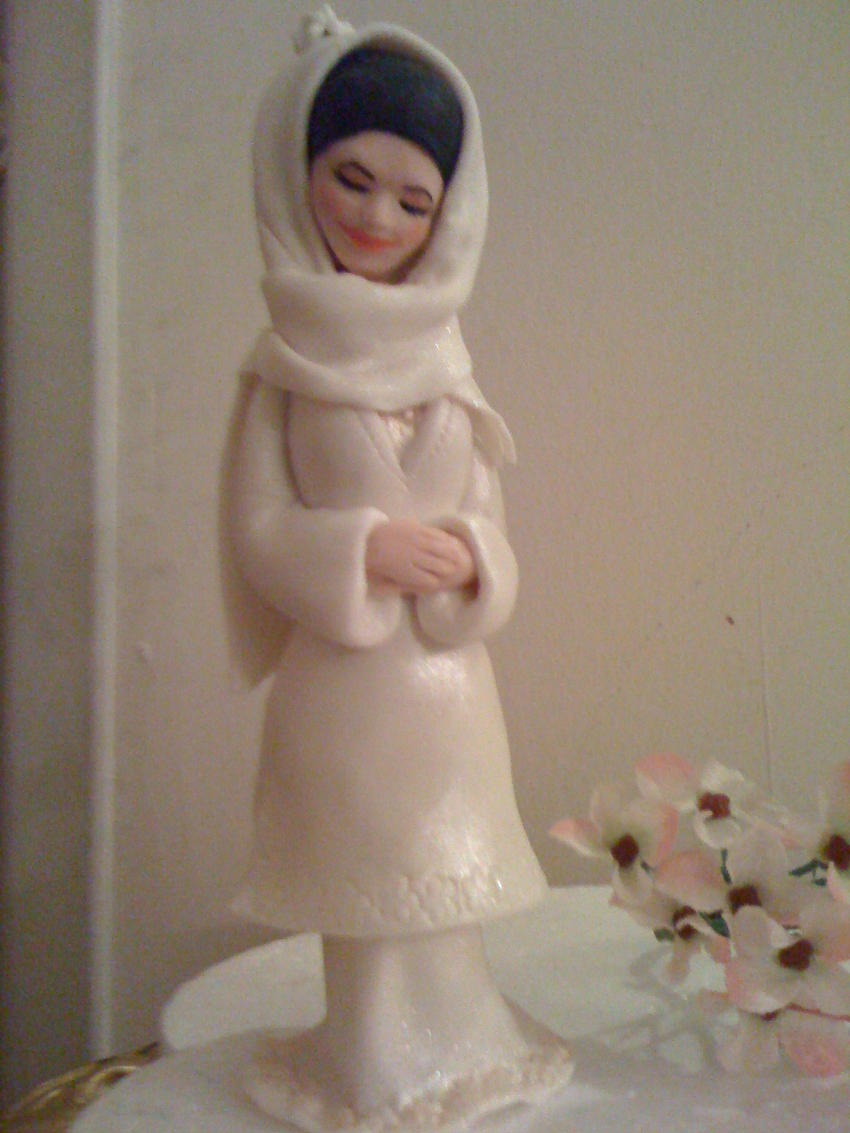 CAKE CUPBOARD: Handmade wedding cake topper - figurine for Muslims