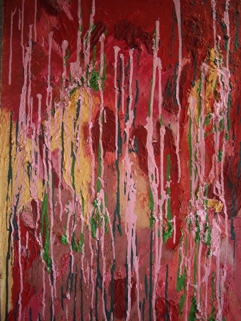 Sandrine arak lian int rieur ext rieur espace terre for Peinture acrylique exterieur
