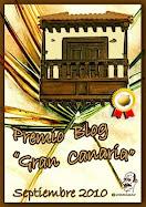 PREMIO BLOG GRAN CANARIA SEPTIEMBRE 2010