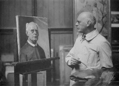 Ludwig+von+Hofmann+peint+son+autoportrai